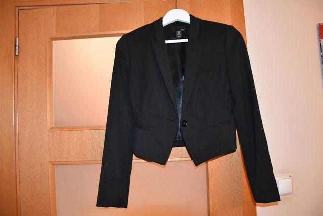 Czarny żakiet, marynarka H&M rozmiar 34