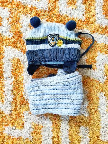 Шапка +шарф комплект