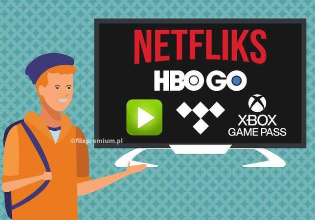 Netflix > Spotify > HBO GO> XBOX > IPLA > Tidal -> | AUTOMAT |