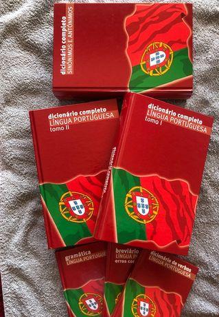 Colecção completa dicionário e auxiliares de: Português - 6 livros