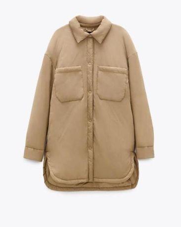 Трендовая НОВАЯ тёплая оверсайз рубашка от Zara