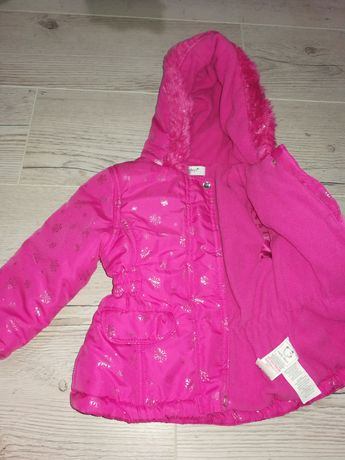 Зимняя куртка на девочку 9-12 месяцев
