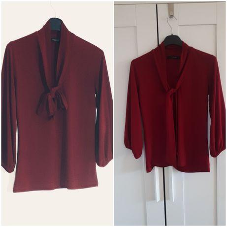 Czerwona bluzka z wiązaniem reserved s