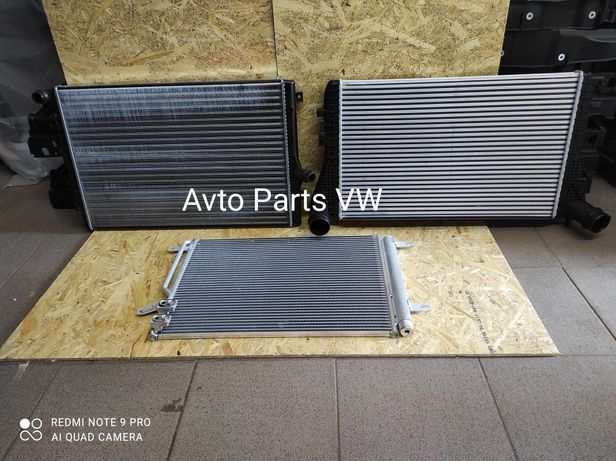 Радіатор на VW Jetta 6 USA Кліма Куллер Вода Основний Радиатор