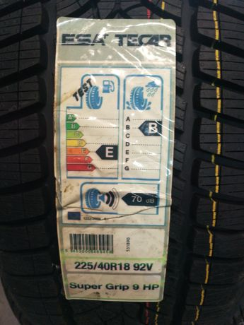Esa Tecar Supergrip 9 hp 225/40/18 92v Nowe ZIMA