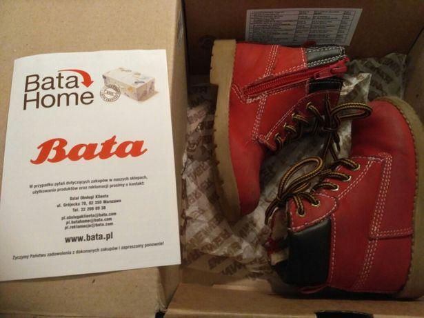 Trzewiki trapery skórzane 22 buty buciki jesienne zimowe ocieplane