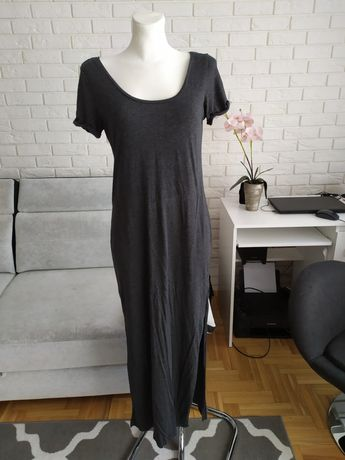 Szara sukienka h&m Basic s