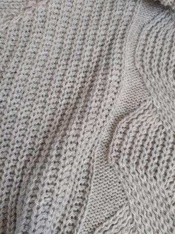 Nowy sweterek Szary wzór warkocz NOWY NIEUŻYWANY z metką