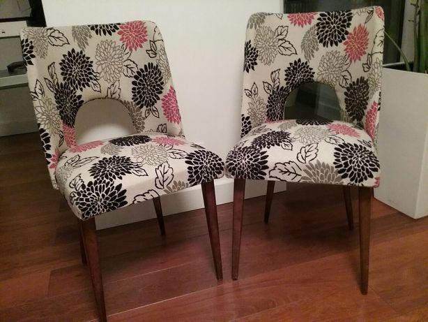 Krzesła patyczaki, muszelki PRL