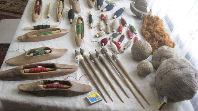 човнички деревяна ткацькі у повному комплекті старина лодка лодочка