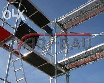 Rusztowanie Rusztowania elewacyjne Plettac wysokość 8,5m x 30m