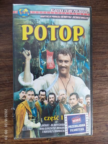 "Kaseta VHS ""Potop"" Nowa! W folii!"