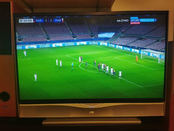 Telewizor projekcyjny 56 cal JVC HD-56ZR7U HDMi i dekoder dvbt Polsatu