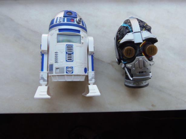 Star Wars R2D2 Relógio Projector & C3PO Gravador de voz e acende luzes