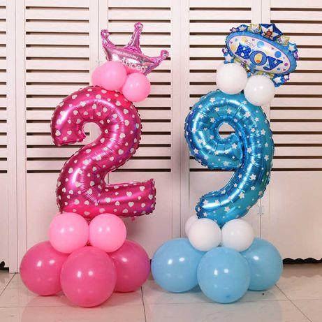 Цифра на день рождения 70 см (фольга, фотозона, шар, декор)