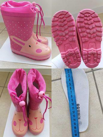 Резинові чоботи Kimboo утеплені 26р 17 см