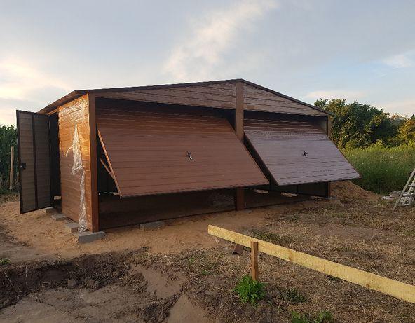 Garaż blaszany drewnopodobny 6m x 6m NOWY!!!