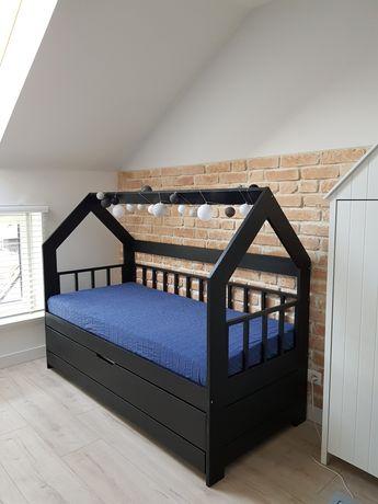 Podwójne łóżko dziecięce skandynawskie domek