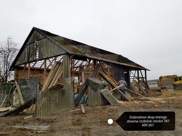 Skup starego drewna rozbiórki rozbiórka stodola stodoly stodól drewno