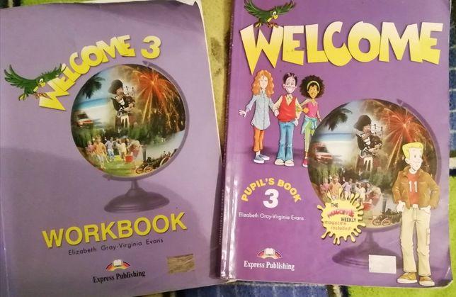 Английский Wellcome 3, учебник и рабочая тетрадь