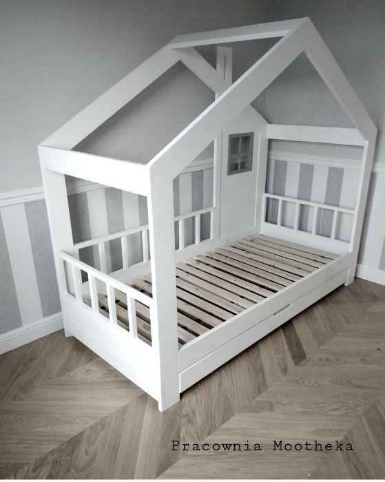 Łóżko drewniane domek styl szwedzki Wejherowo - image 1