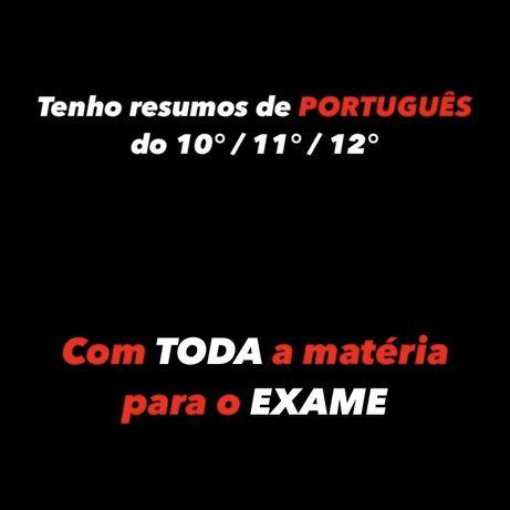 Resumos de Português - Exame