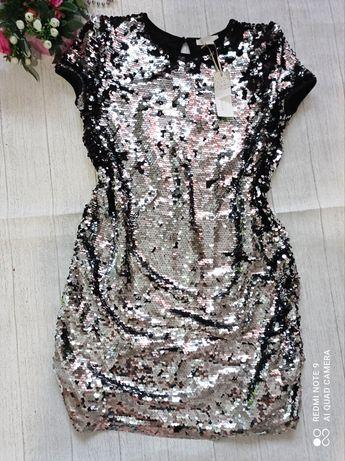 Красивое платье в пайетках на 14-15летPrimark