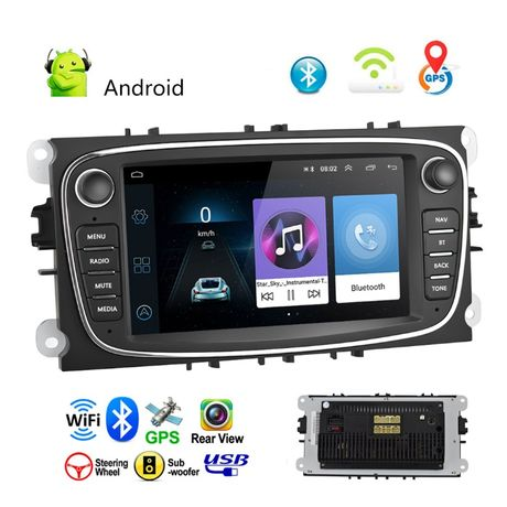 Radio FORD ANDROID 9.1 Focus S-max Mondeo Nawigacja PL 2DIN 24H GW