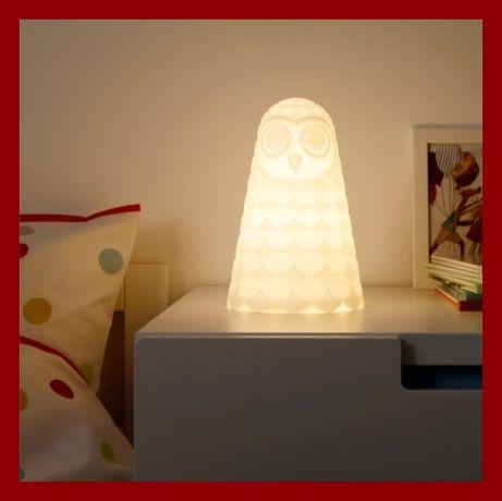SOLBO Lampa stołowa LED Sowa ** IKEA ** biała 23cm