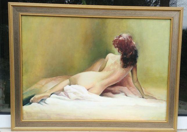 Obraz olej płótno pędzla Katarzyna Kurkowska 2006r co masz na zamiane?
