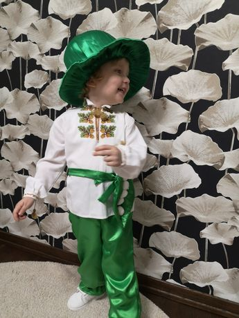 Дитячий карнавальний костюм біб, фасолька, горошок