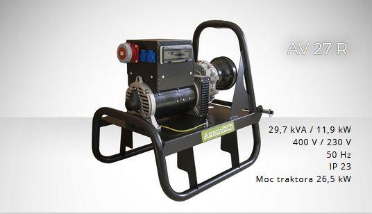 FOGO AGROVOLT AV27R 400/230volt Agregat prądotwórczy ROLNICZY F.VAT