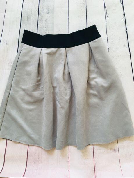 Reserved Spódnica z koła XS welur