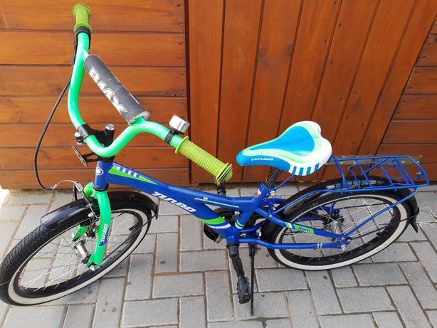 Porządny rower BMX 20 cali PRODUKT POLSKI bagażnik błotniki dzwonek