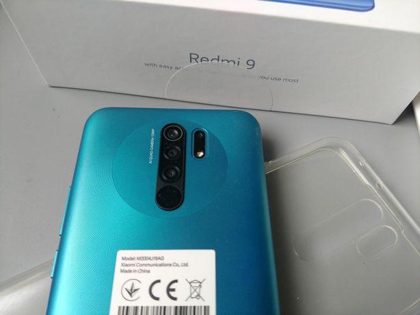 Xiaomi Redmi 9 4/64 jak nowy na gwarancji 23.02.2021 folia, etui