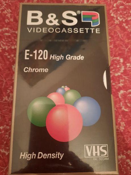 kaseta video VHS B&S, 120, Chrome, 2 szt. nowe