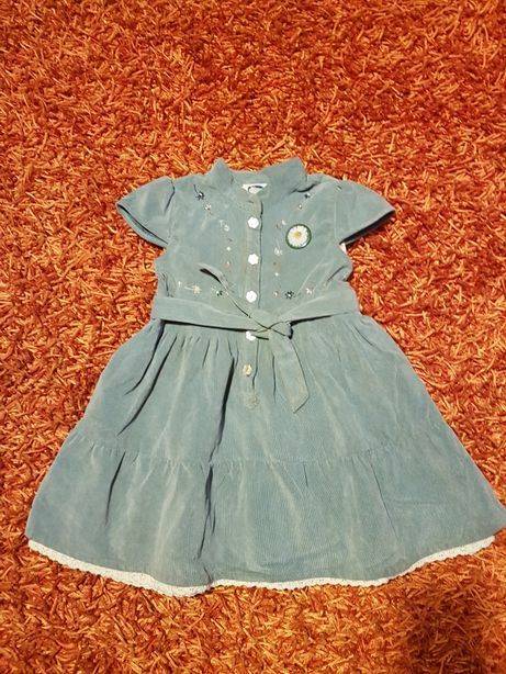 OFERTA PORTES - Vestido Azul de Bombazine da Chicco (24Meses)