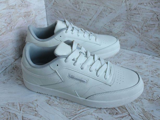 Кроссовки подростковые для мальчика белые кожаные кеды Restime