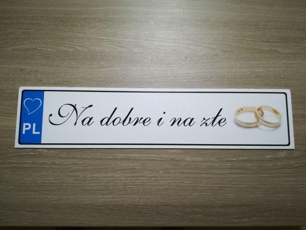 Rejestracja ślubna 2 sztuki