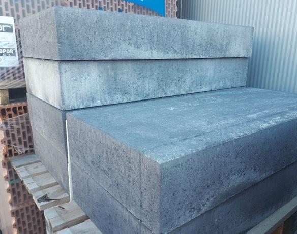 Stopień schodowy Grando Polbruk 100x46x15 cm gładki łamany Nerino