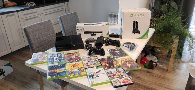 Konsola Xbox 360 E-500GB dużo gier kinect pady