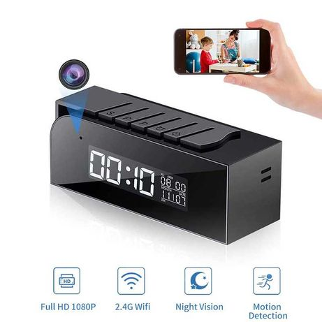 Camera  oculta com relógio  wi-fi  bluetooth Full HD 1080P vigilância