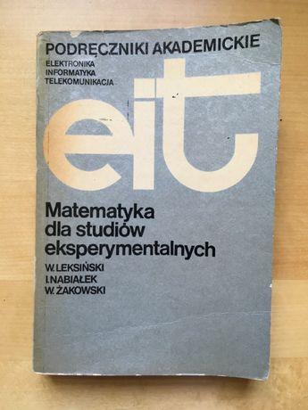 Matematyka dla studiów eksperymentalnych, Leksiński Nabiałek Żakowski