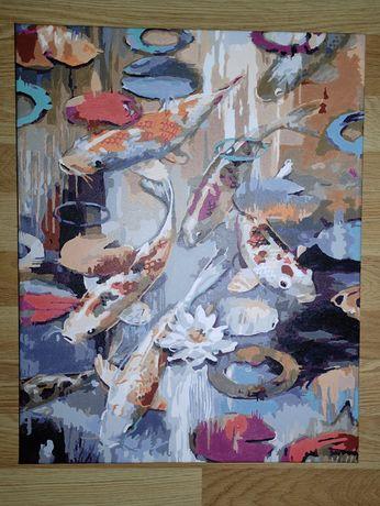 Картина на холсте Карпы Кои