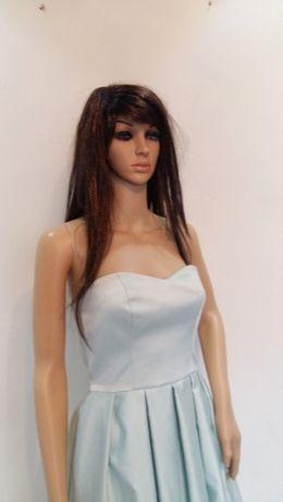 Mohito miętowa sukienka z przedłużanym tyłem S