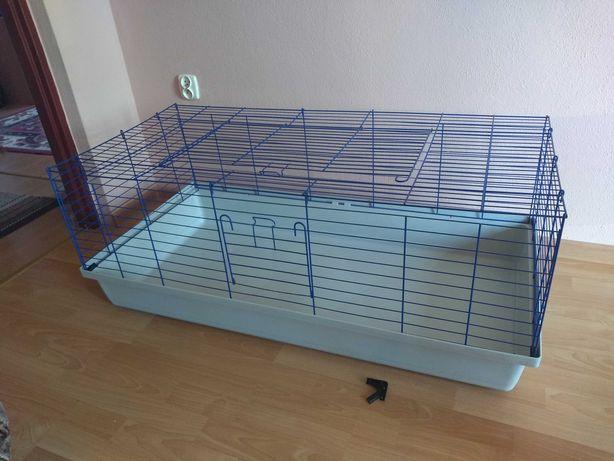 Klatka 120 x 60 cm + siennik + kuweta dla świnki morskiej królika