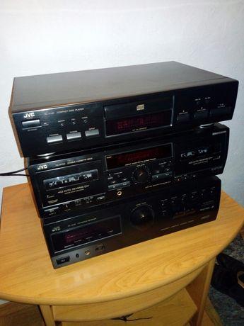 Wieża JVC amplituner cd deck
