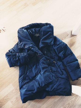 Świetna kurtka zimowa granatowa M/L