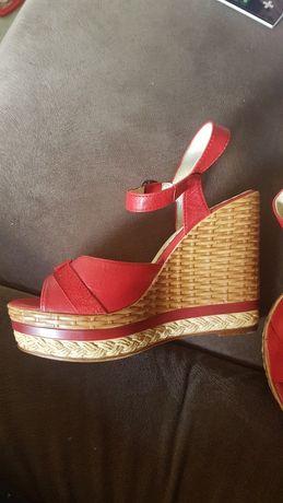 Czerwone buty 36,35,czulenka sandaly