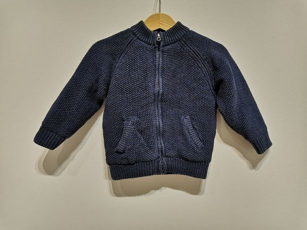 Dzianinowy sweter/bluza/kurtka Zara roz. 80-86 cm (12-18 m-cy)